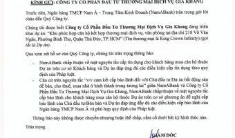 Pháp lý King Crown Infinity Phần 6 – Cấp tín dụng và Bảo lãnh của Nam Á Bank